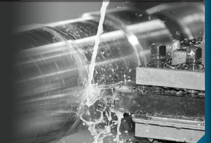 Lathe machining a part for H2O Cutting Service
